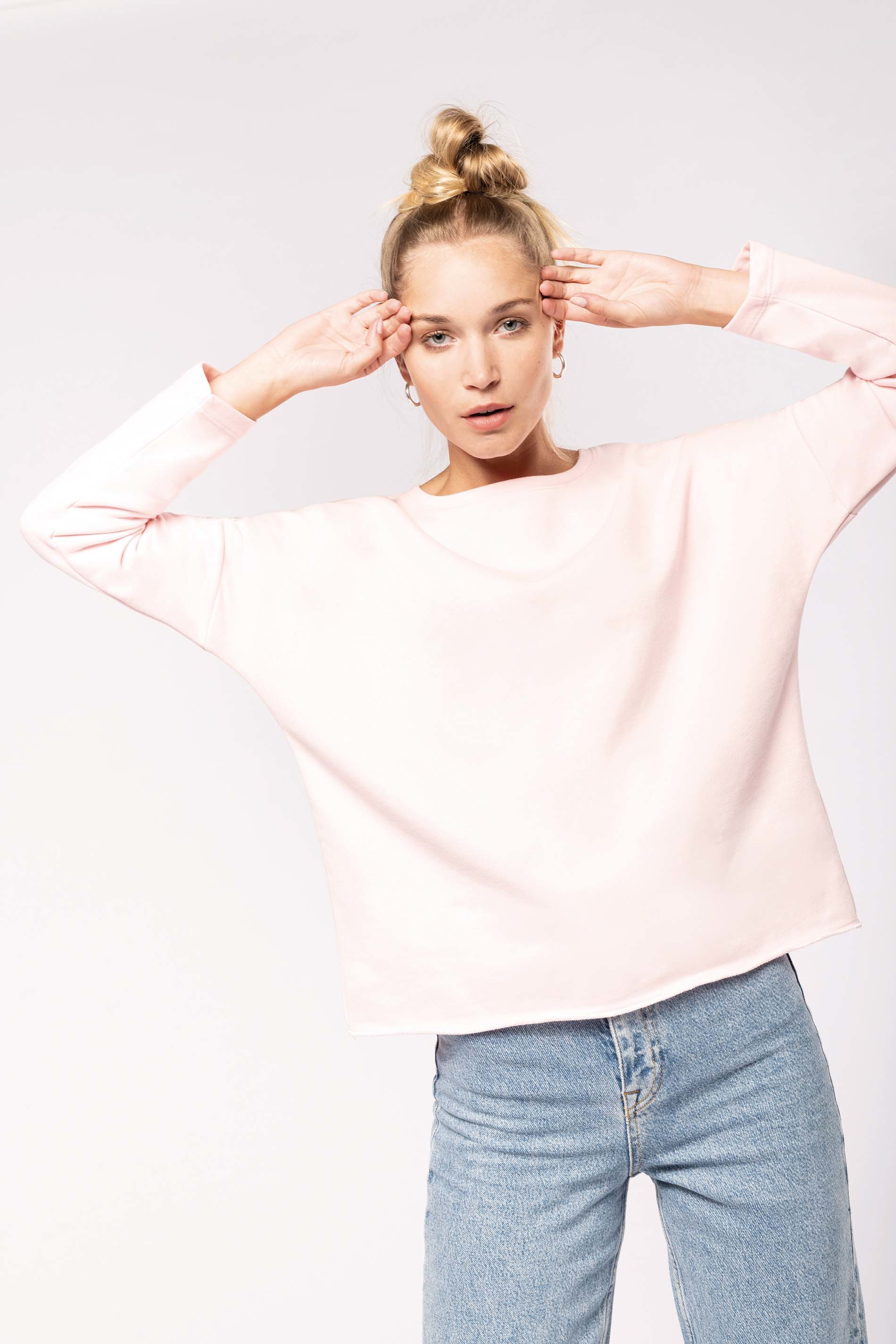 Sweat-shirt femme coupe loose