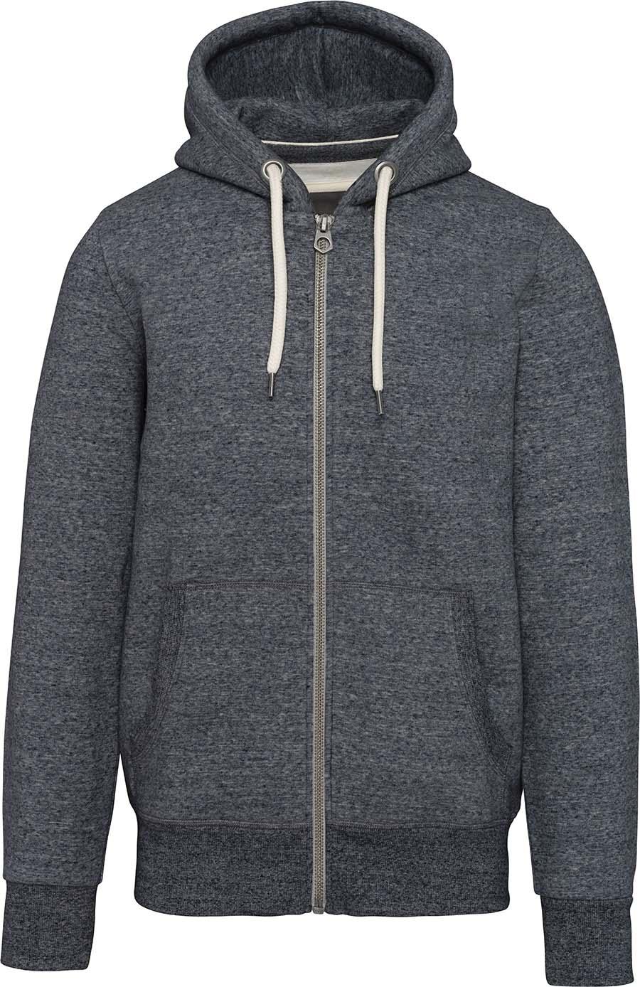 Sweat-shirt vintage zippé à capuche homme - 2-1530-6