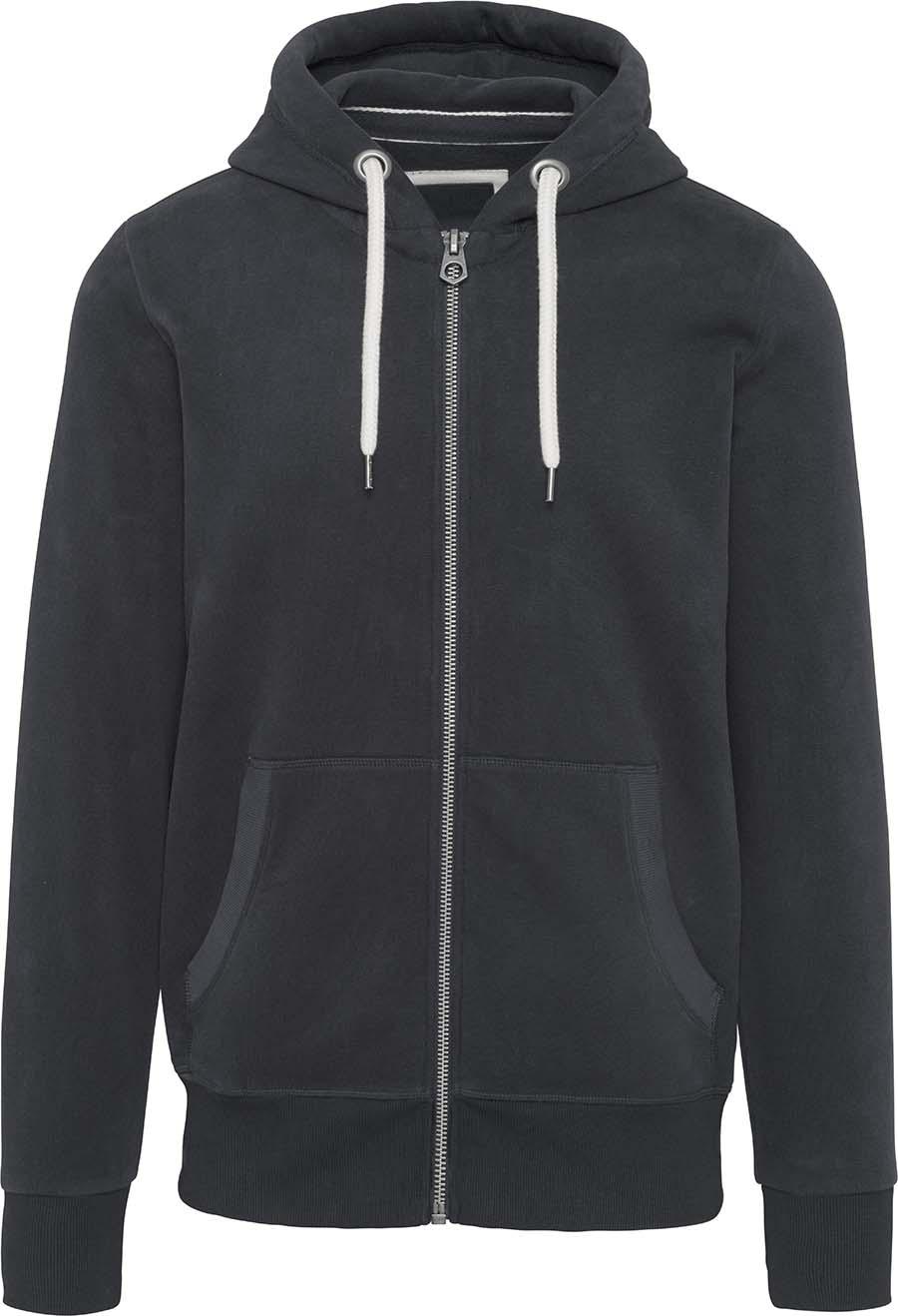Sweat-shirt vintage zippé à capuche homme - 2-1530-9