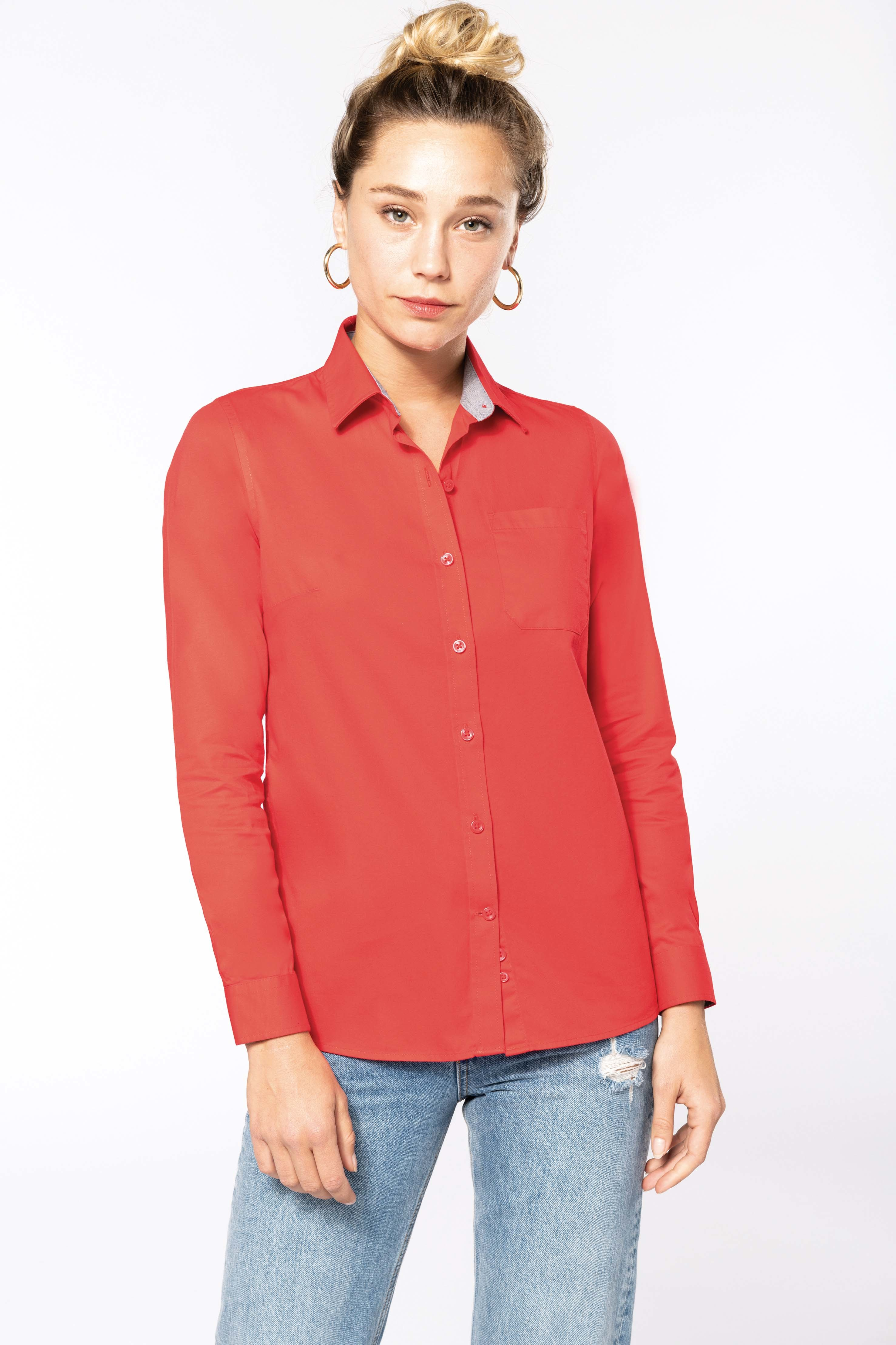 Chemise coton Nevada manches longues femme - 2-1551-4