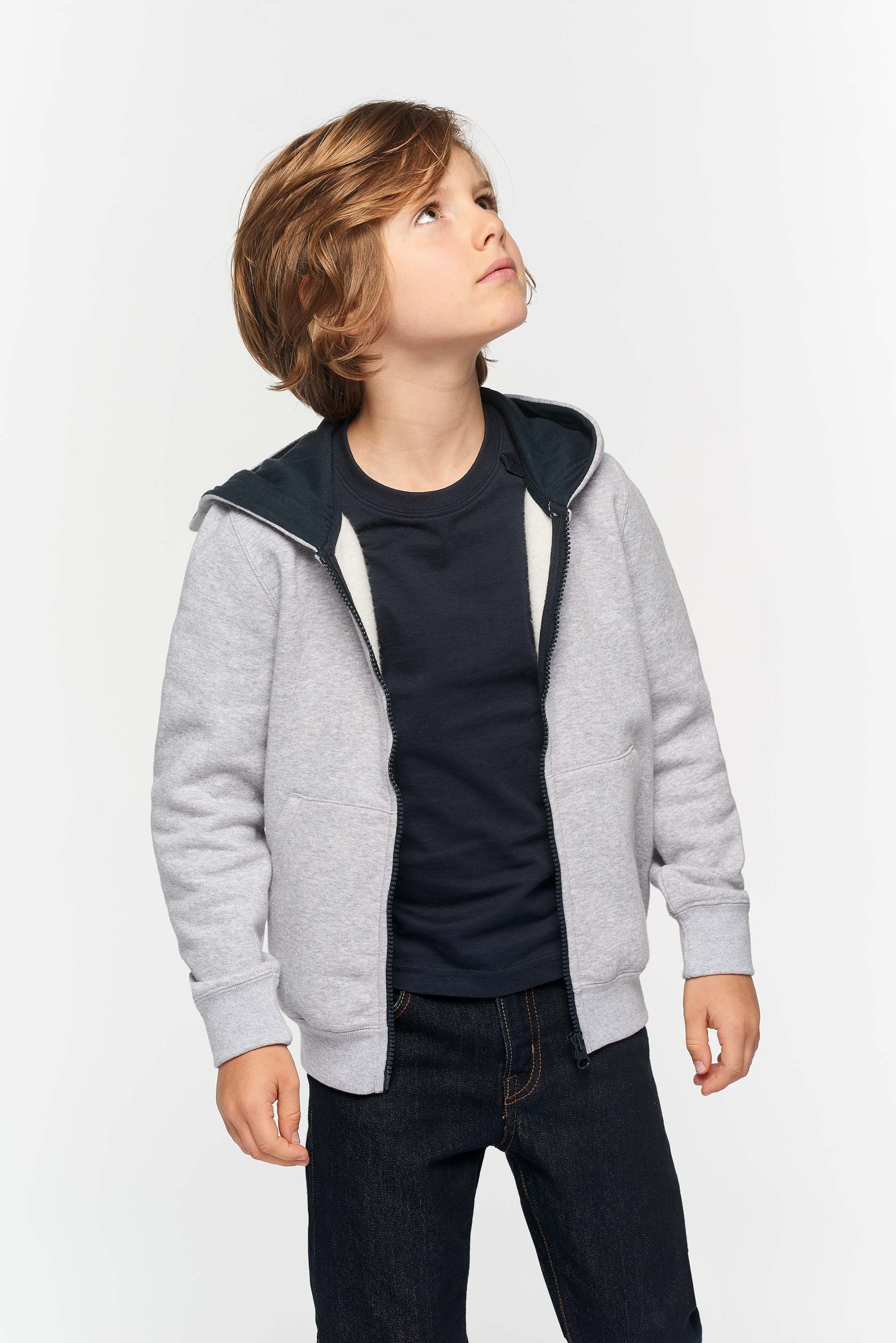 Sweat-shirt zippé capuche enfant