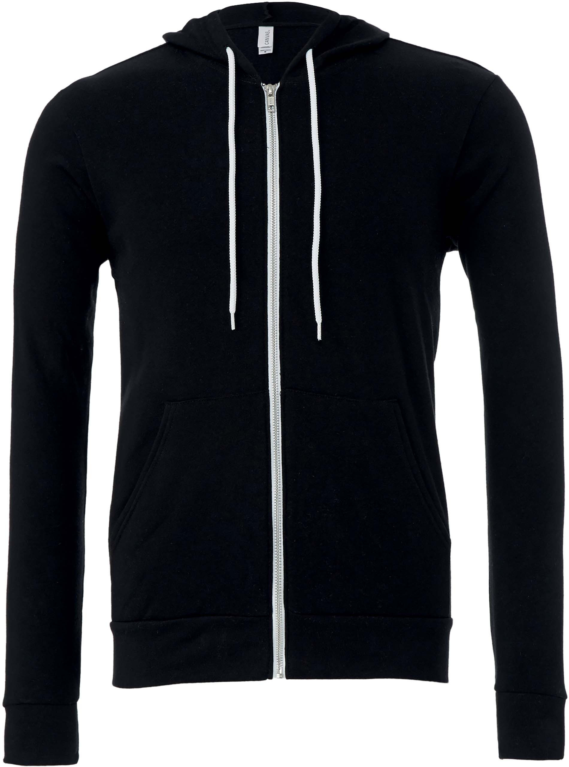 Sweat-shirt zippé capuche unisexe
