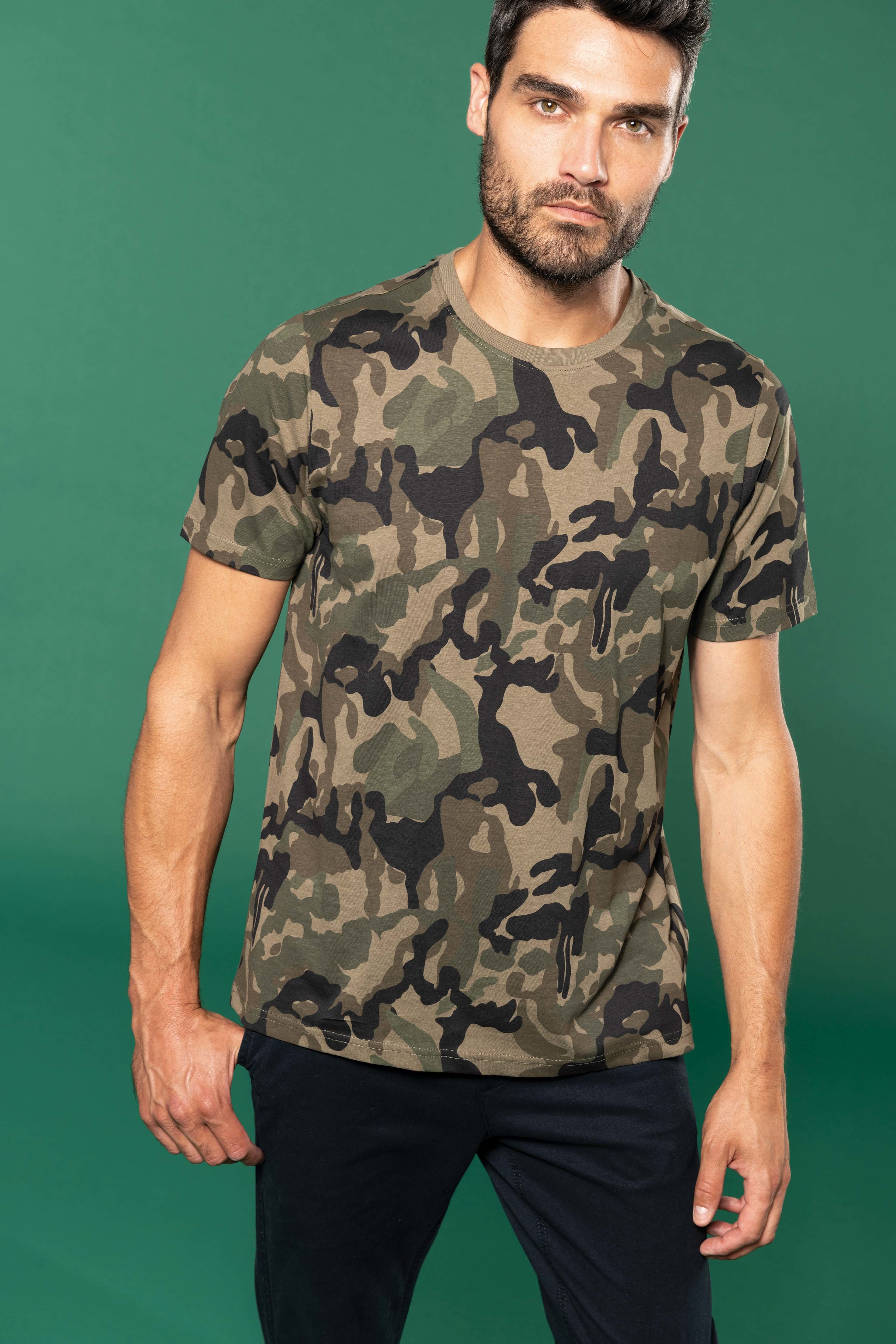 Tee-shirt camouglage manches courtes homme