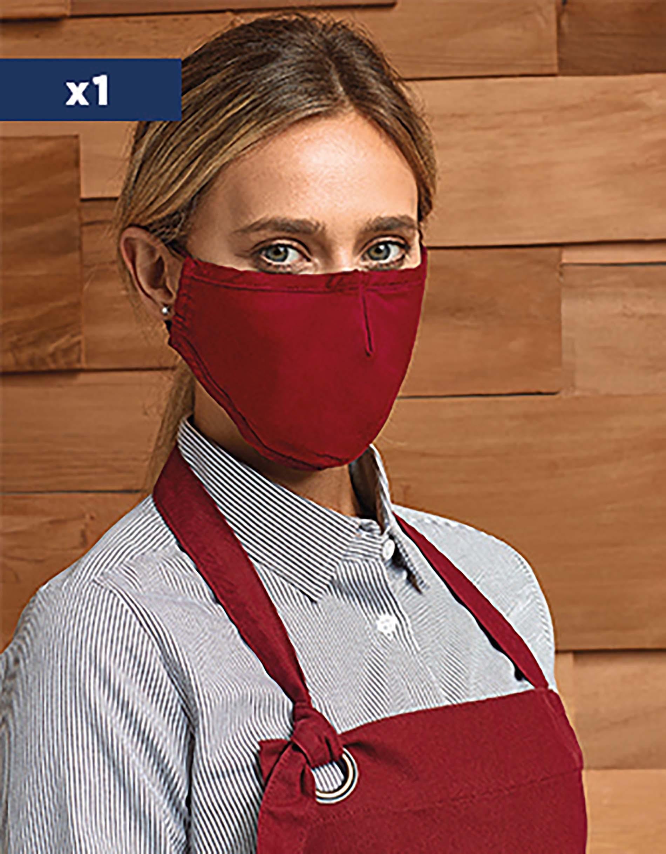 Masque 3 couches réutilisable avec cordons ajustables AFNOR UNS1