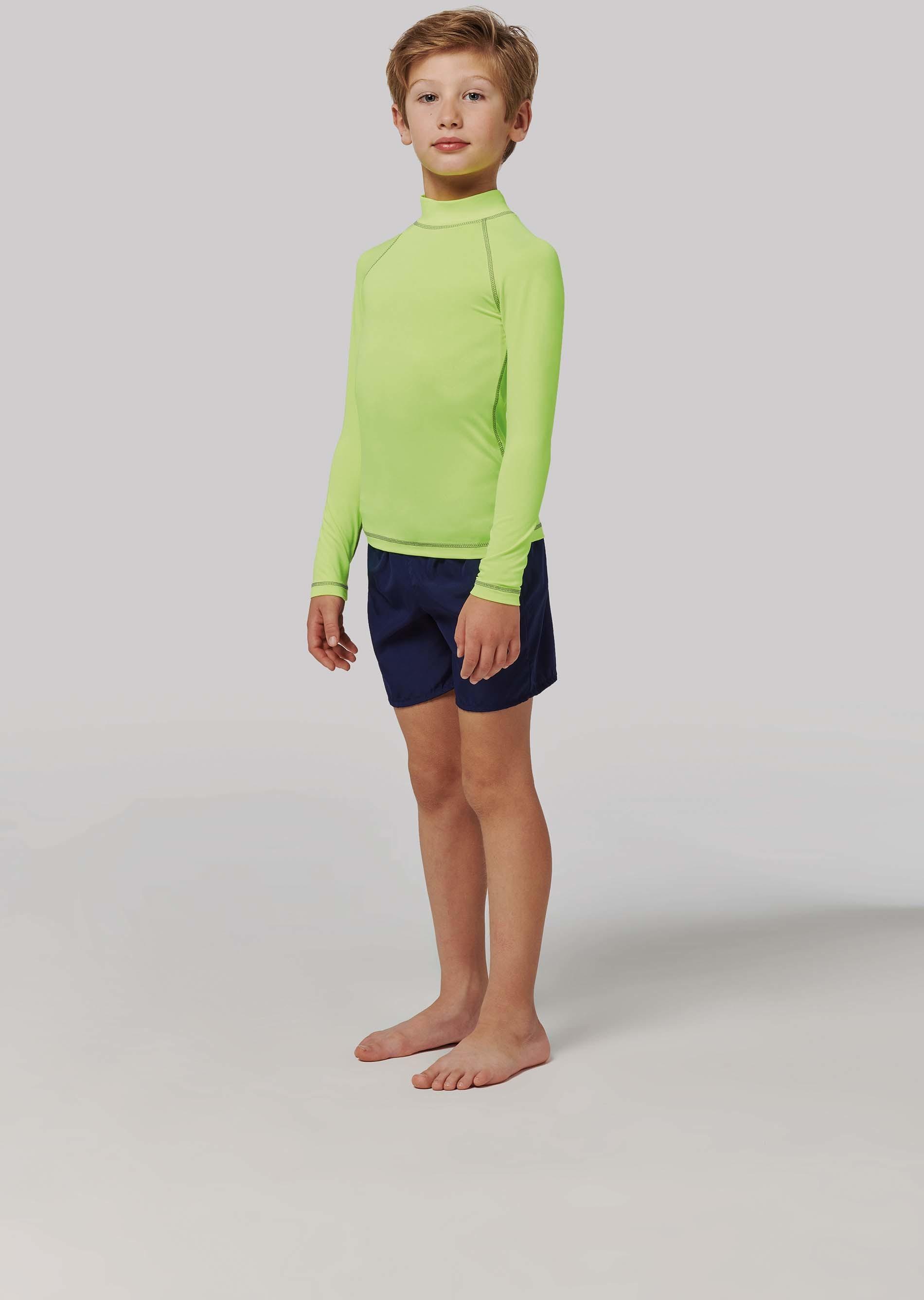 Tee-shirt technique à manches longues avec protection anti-UV enfant