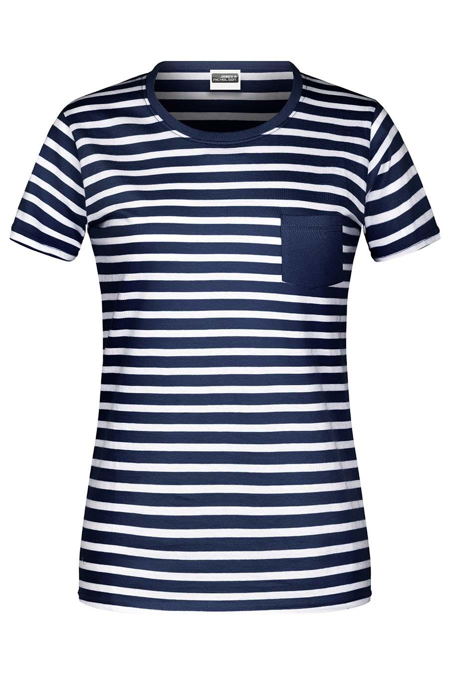 Tee-shirt bio rayé Femme - 20-1490-1