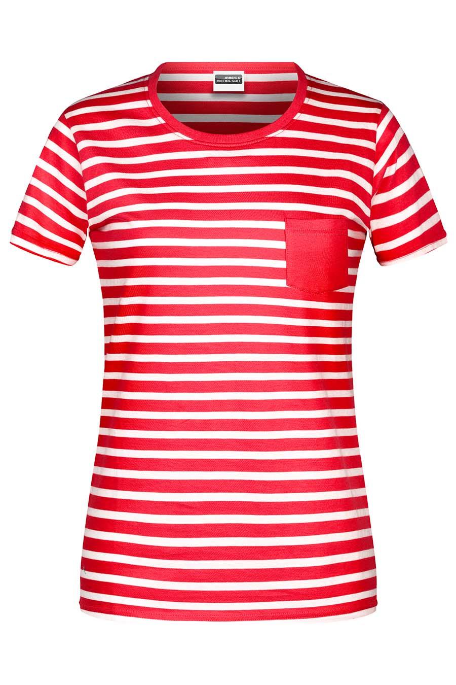 Tee-shirt bio rayé Femme - 20-1490-3