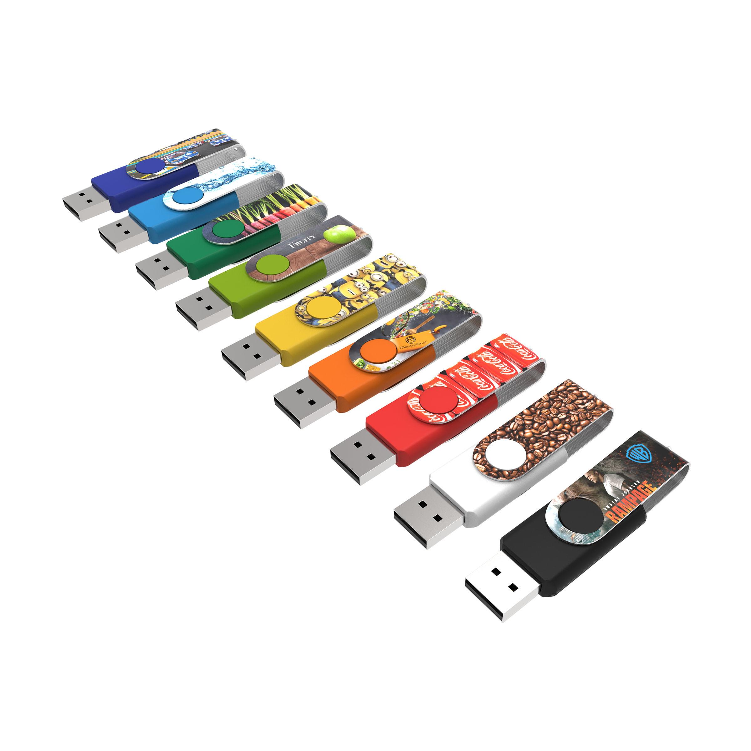 Clé USB Twister avec marquage intégral - 21-1073-18