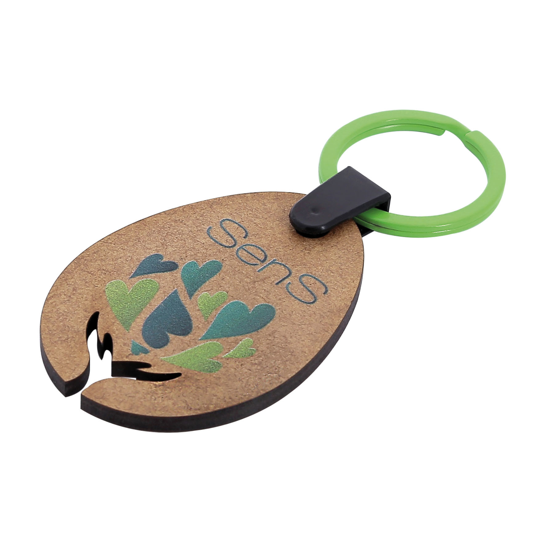 Porte clé en bois - 22-1324-3