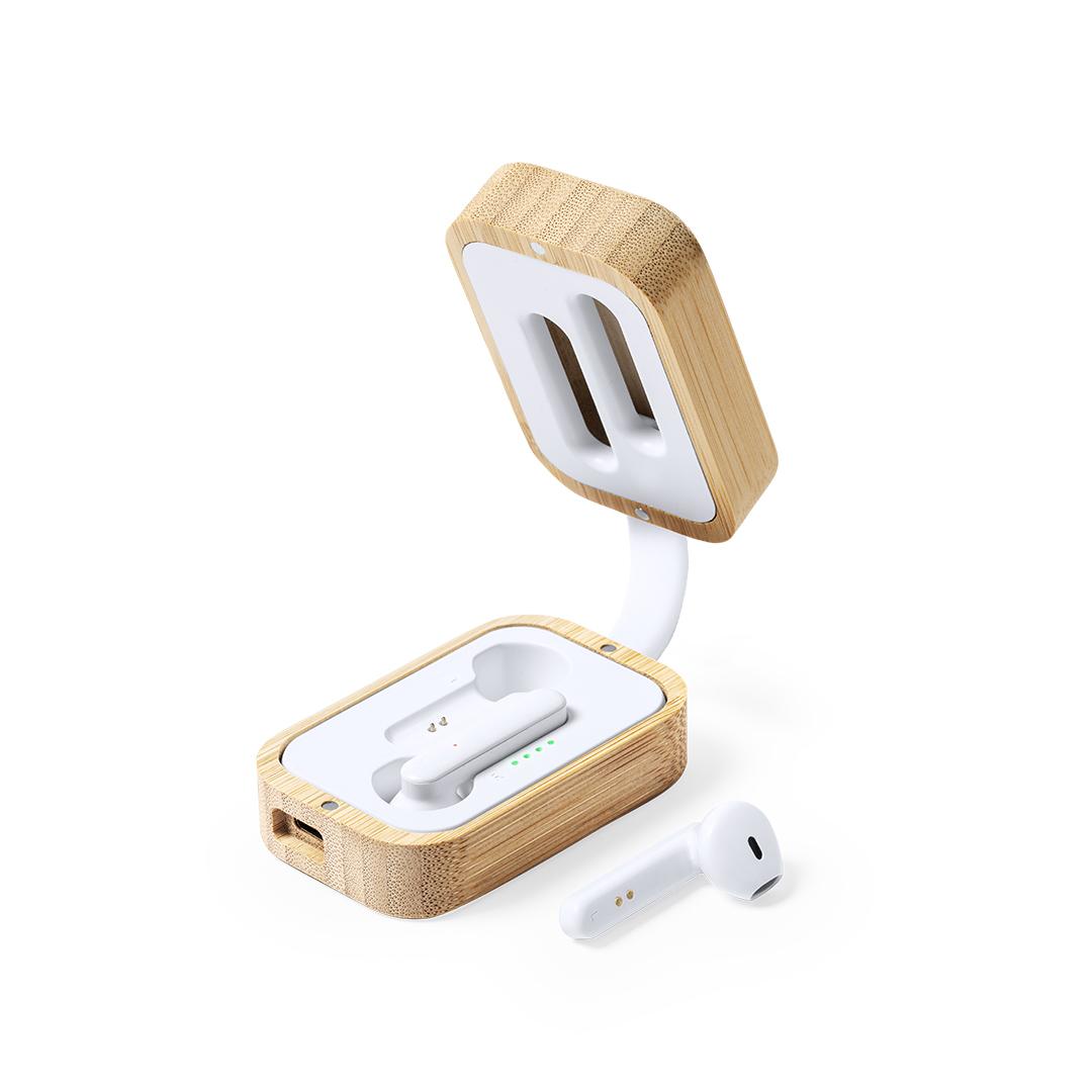 Écouteurs avec boite bambou