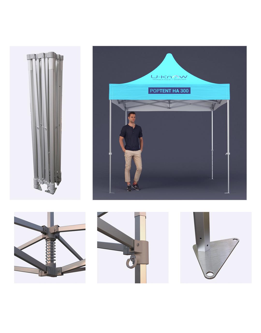 Tente en aluminium 3x3m - 25-1116-6