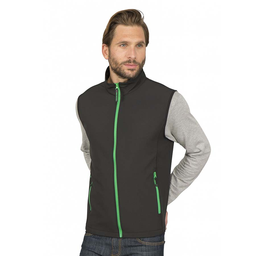 Bodywarmer softshell 2 couches