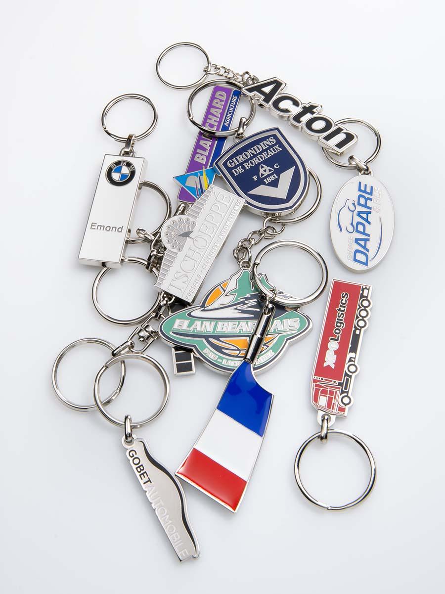 Porte-clés zamac email premium