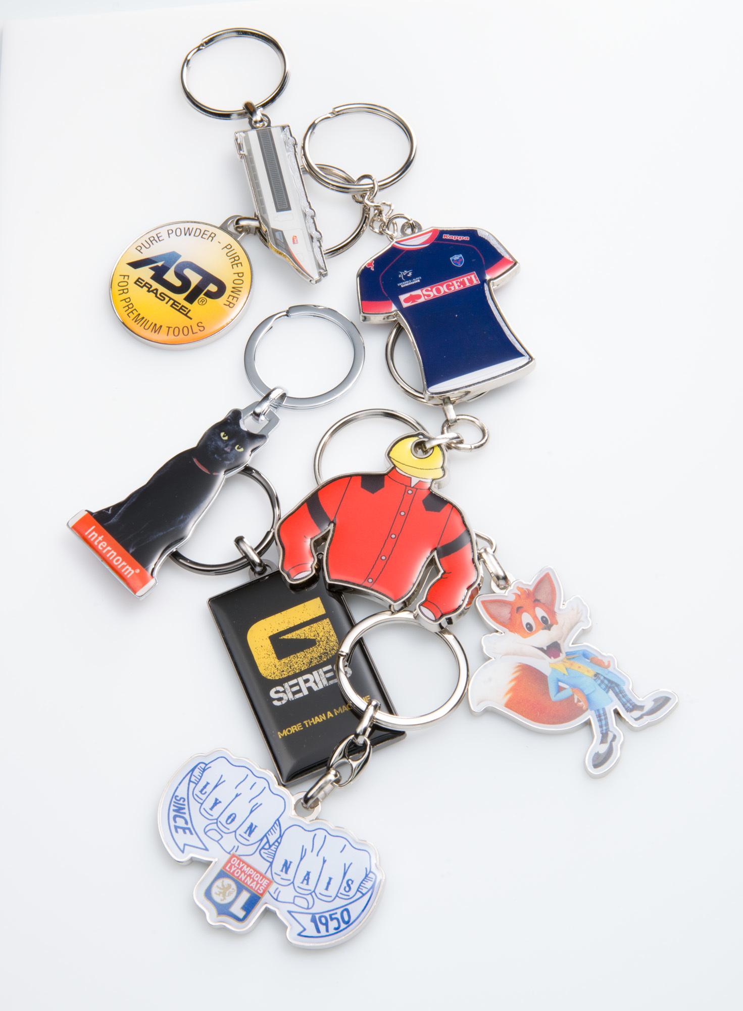 Porte-clés zamac quadri premium