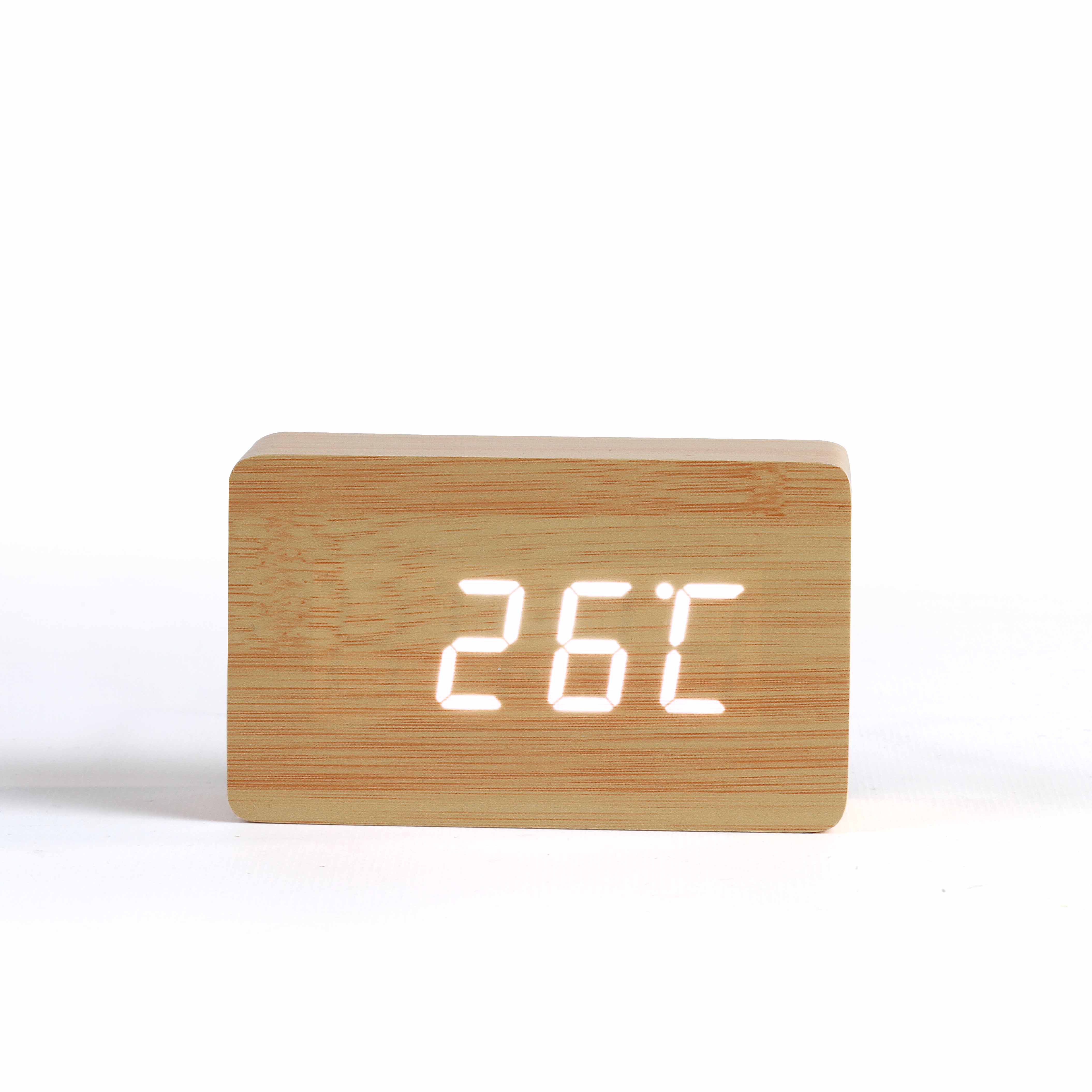 Horloge digitale aspect bois - 30-1229-2