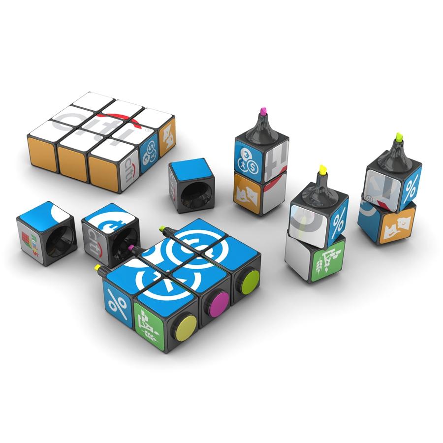 Rubik's Cube Surligneur 1 pièce