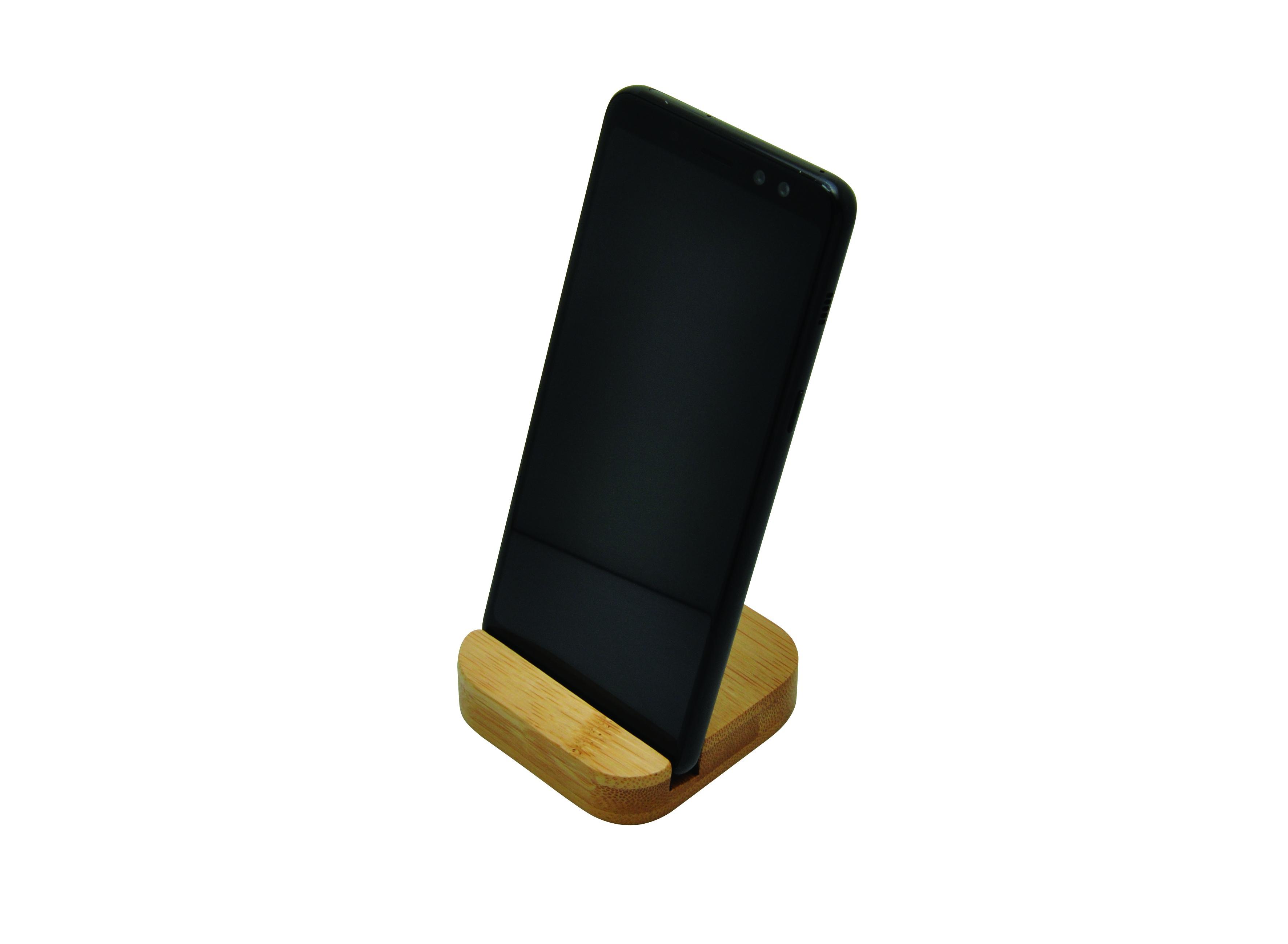 Support téléphone en bambou