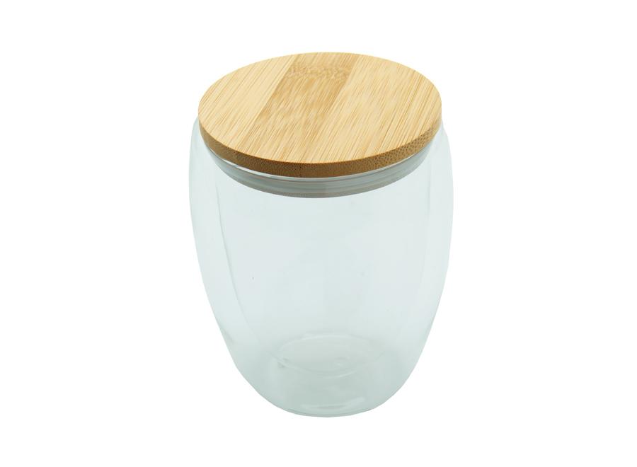 Tasse en verre double paroi en bambou