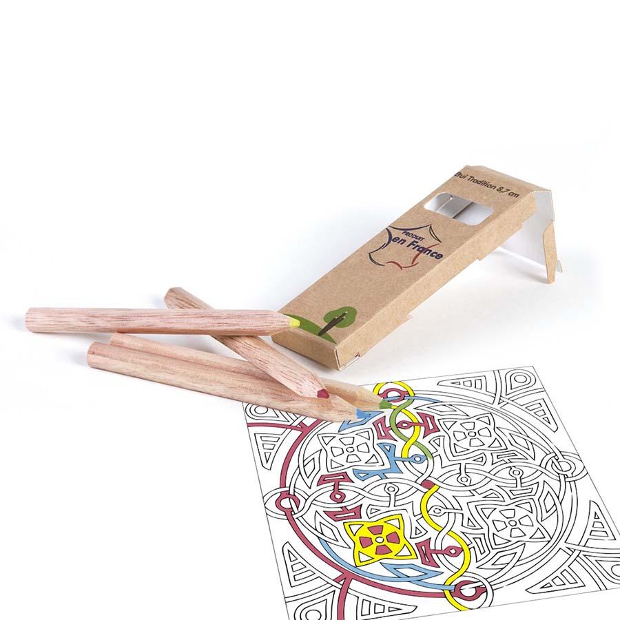 Étui 4 crayons Eco 8,7 cm