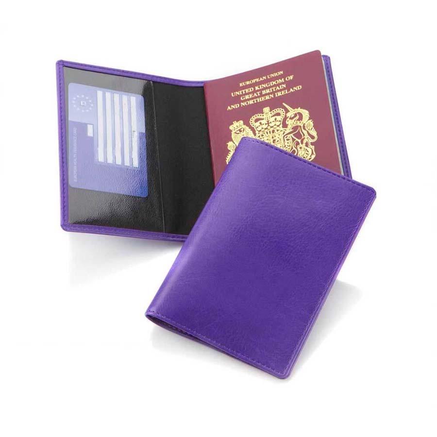 Protège-passeport en PU de couleur