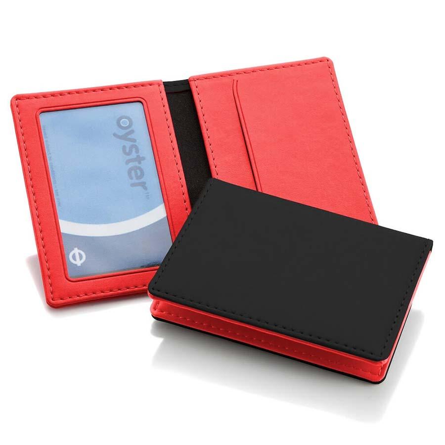 Porte-cartes en PU de couleur