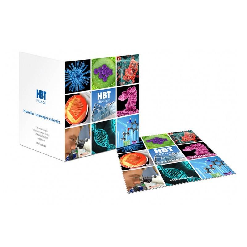 Carte de vœux microfibre
