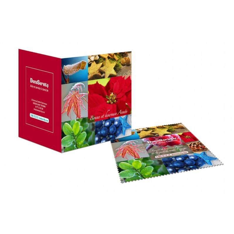 Carte de vœux microfibre - 39-1095-2