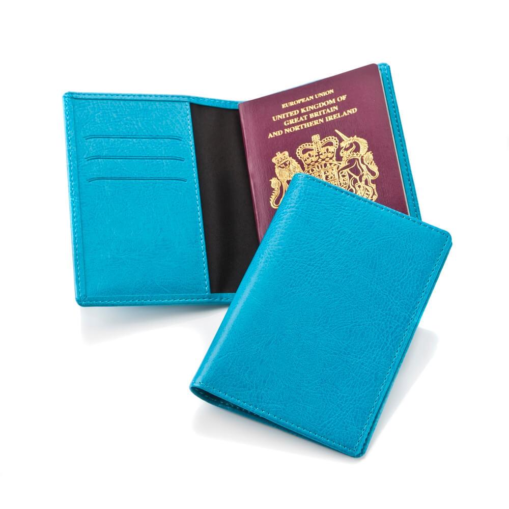 Protège passeport en PU de couleur