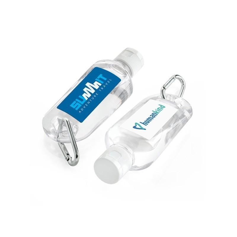 Gel antibactérien sans rinçage avec mousqueton 70ml