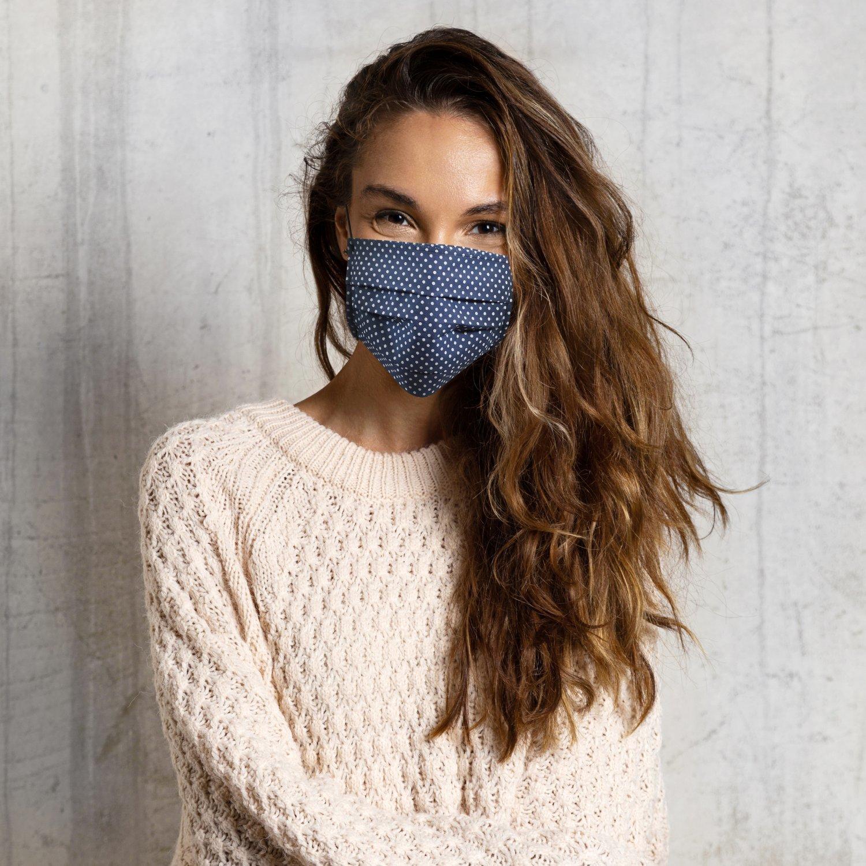 Masque barrière en coton UNS1 10 lavages