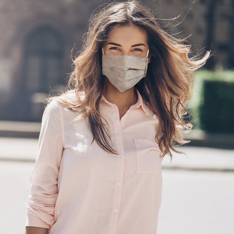 Masque barrière en lin