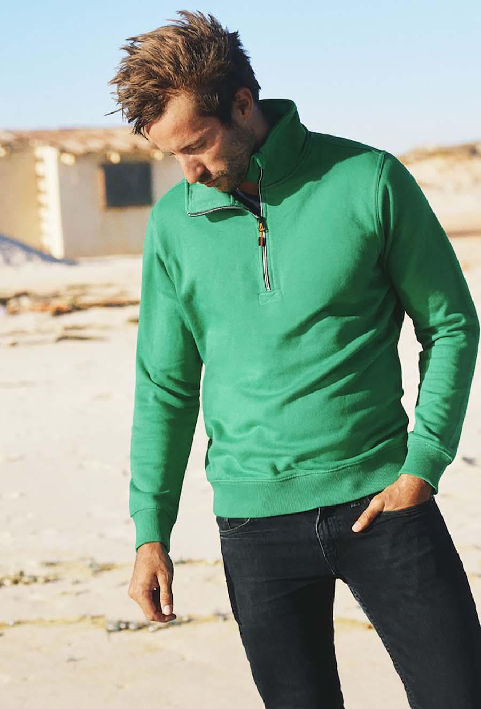 Sweatshirt Rounders col Zip Unisexe