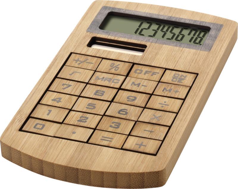 Calculatrice effet bois