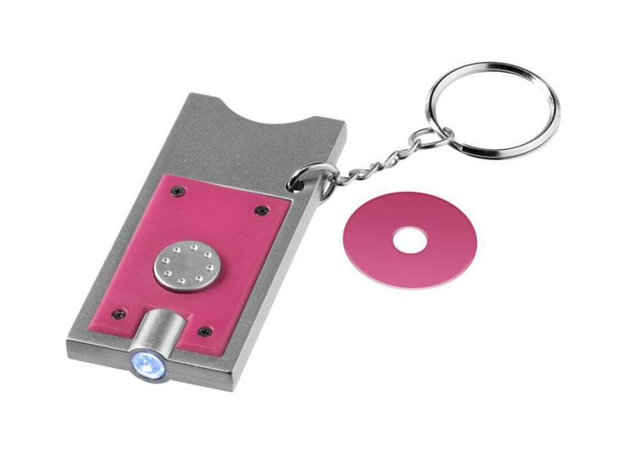 Porte-clés avec jeton et lampe torche