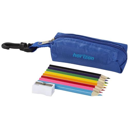 Trousse avec crayons de couleur