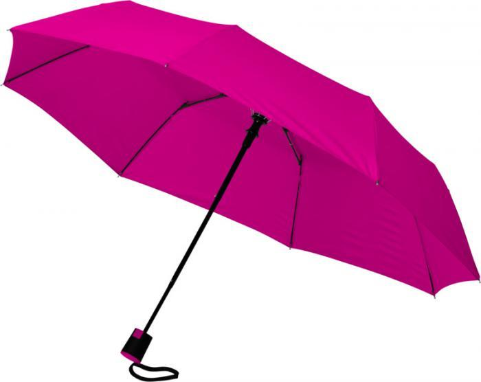 """Parapluie 21"""" pliable à ouverture automatique"""