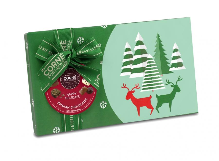 Boîte rectangle de Noël 2018
