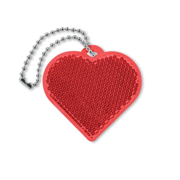 Porte-clés cœur réfléchissant