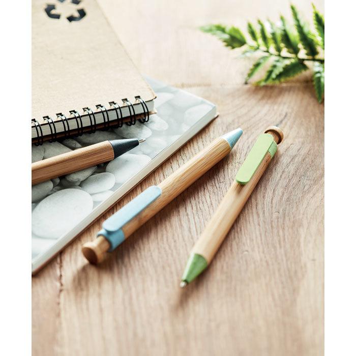Stylo bambou, paille blé et PP