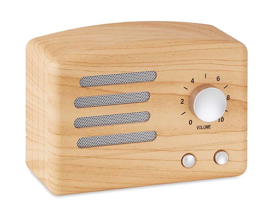 Haut-parleur Bluetooth aspect bois