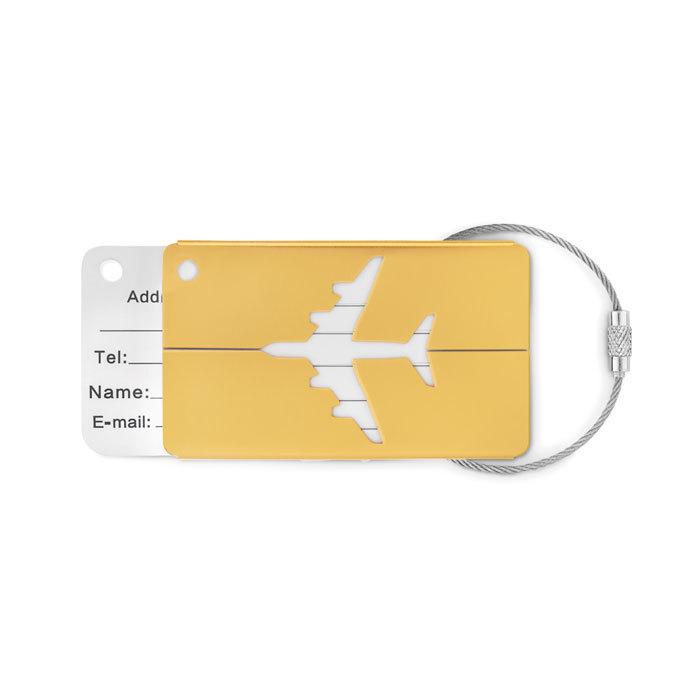 Étiquette à bagage en aluminium