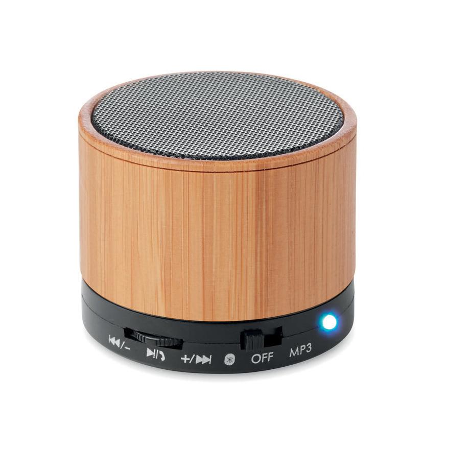 Haut-parleur Bluetooth bambou