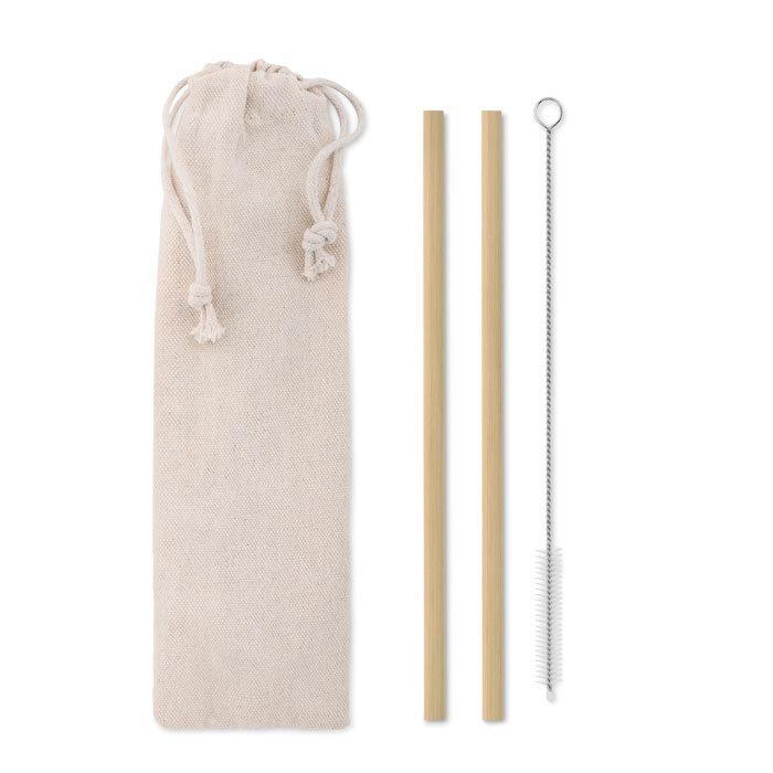 Pailles bambou avec brosse
