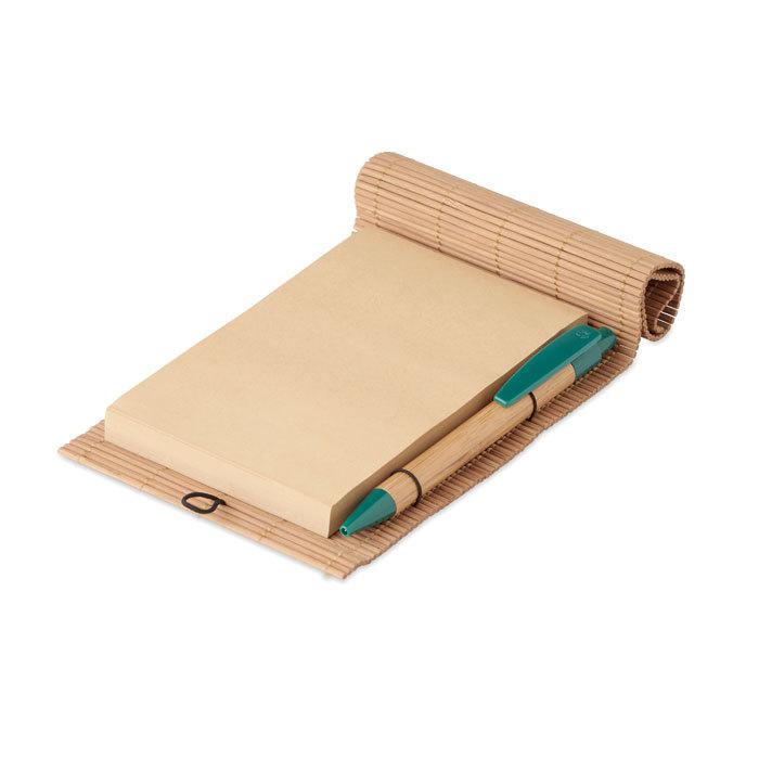 Carnet bambou avec stylo