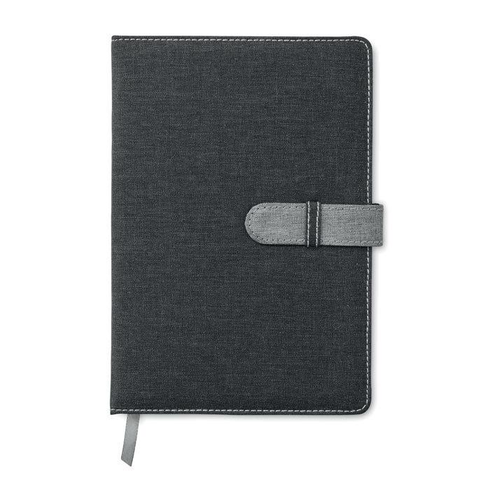 Carnet de notes A5 en coton aspect jeans - 6-1788-3