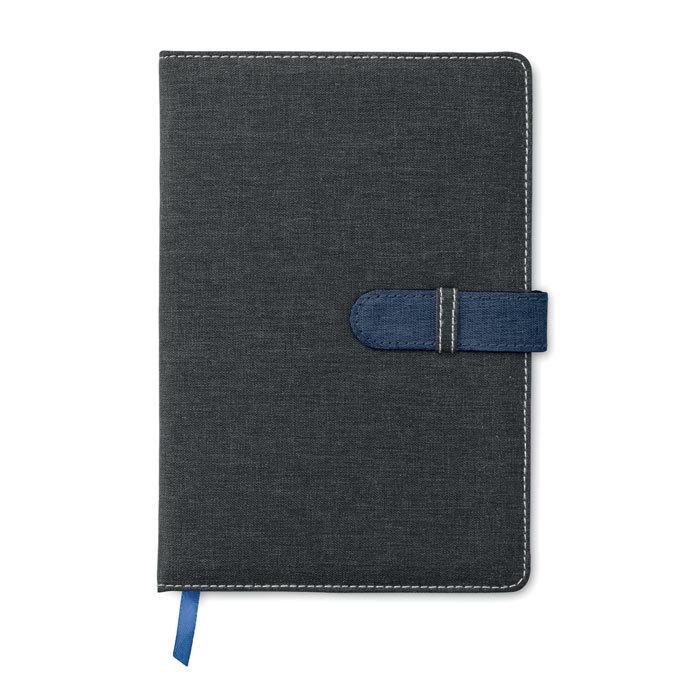 Carnet de notes A5 en coton aspect jeans