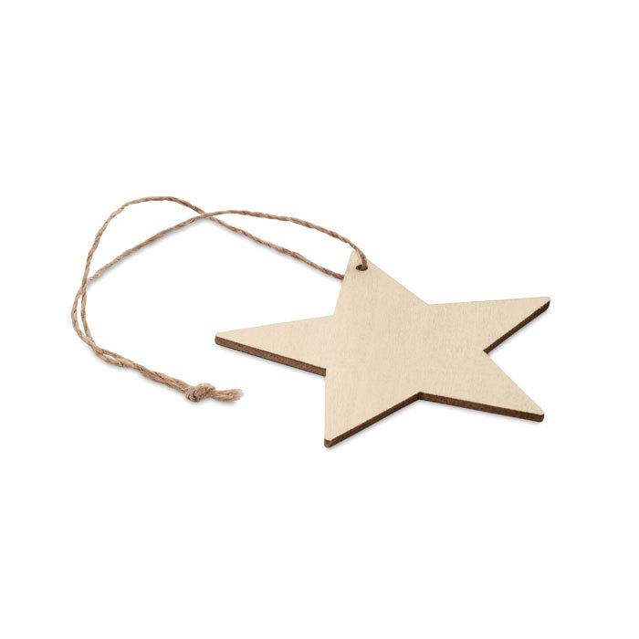 Étoile de Noël en bois