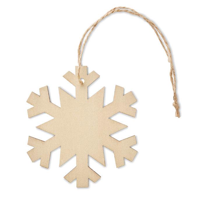 Flocon de Noël en bois