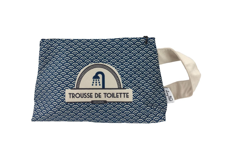Trousse de toilette velours Bleu Egyptien
