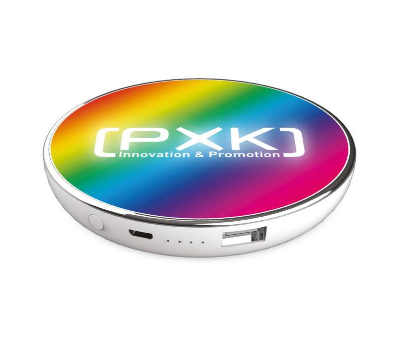 Chargeur sans fil & batterie de secours Light Color 3000 mAH